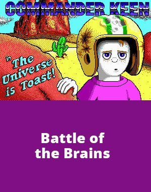 Commander Keen 9: Battle of the Brains DOS front cover