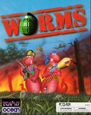 Worms DOS front cover