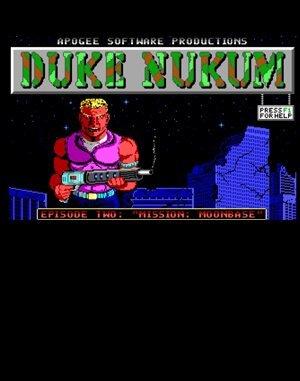 Duke Nukum: Episode 2 - Mission: Moonbase DOS front cover