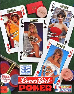 Cover Girl Strip Poker DOS front cover