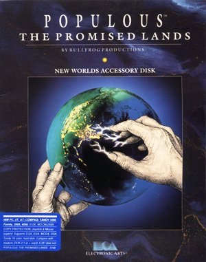 Populous: The Promised Lands DOS front cover