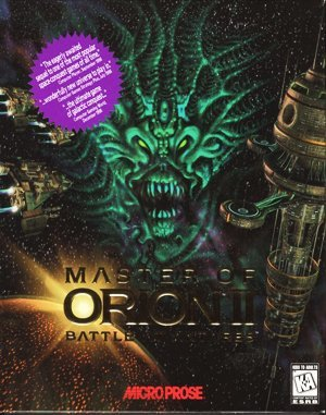 Master of Orion II DOS front cover