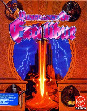 Vengeance of Excalibur DOS front cover