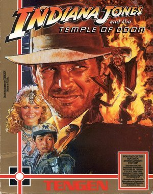 Indiana Jones and the Temple of Doom DOS front cover