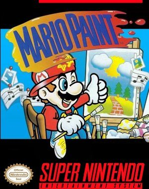 Mario Paint SNES front cover