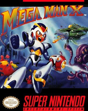Mega Man X SNES front cover