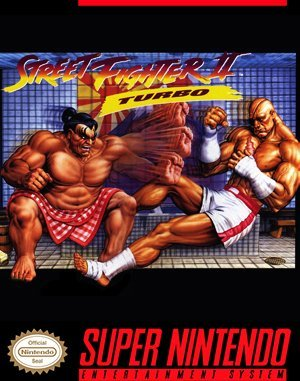 Street Fighter II Turbo SNES front cover