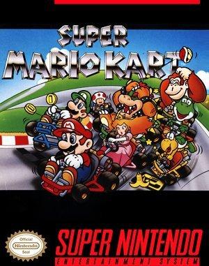 Super Mario Kart SNES front cover