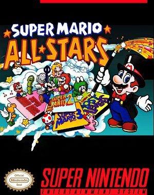 Super Mario All-Stars SNES front cover