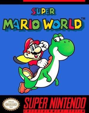 Super Mario World SNES front cover