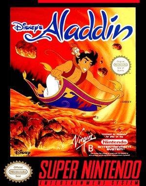 Disney's Aladdin SNES front cover