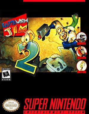 Earthworm Jim 2 SNES front cover