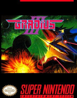 Gradius III SNES front cover