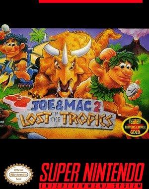 Joe & Mac 2: Lost in the Tropics SNES front cover
