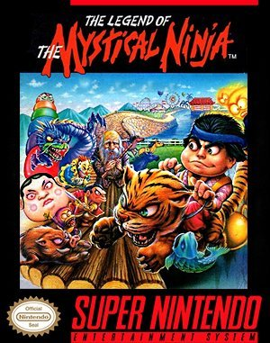 The Legend of the Mystical Ninja SNES front cover