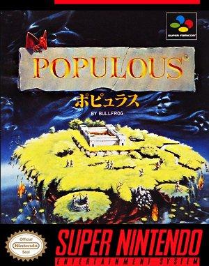 Populous SNES front cover