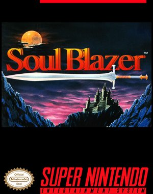Soul Blazer SNES front cover