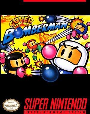 Super Bomberman SNES front cover
