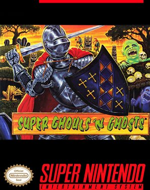 Super Ghouls'n Ghosts SNES front cover