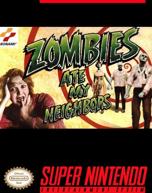 Zombies Ate My Neighbors SNES front cover